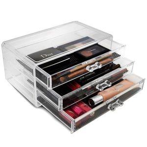3 Drawer Acrylic Makeup Organizer